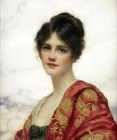 weibliche figur ölgemälde großhandel-Gerahmte weibliche Porträtschönheit, echtes reines handgemaltes Porträtkunst-Ölgemälde auf dicker Leinwand in verschiedenen Größen ny