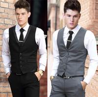 Wholesale Color Plus Formal Man Dress - Vest Dress Men Formal Business Party Mens Dress Vest Suit Male Plus Size 4XL Colete Masculino Gilet Homme Vest Dress Men