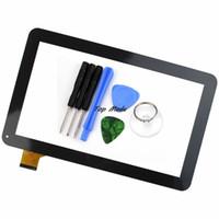 tablette 9,7 zoll weiß großhandel-Großhandels- Neue 10,1 Zoll Schwarz / Weiß Touchscreen für Irbis TZ21 TZ22 3G Tablet Digitizer Sensor Ersatz Kostenloser Versand