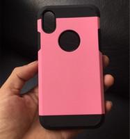 hibrid dayanıklı darbe kauçuğu toptan satış-Iphone X için SGP Durumda Sağlam Darbeye Dayanıklı Toz Geçirmez Hibrid Yumuşak TPU Kauçuk Sert PC İnce Zırh Darbe Geri Vaka iphone 6 7 8 artı XS max XR