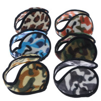 Wholesale Plush Cycling - New Ear Muffs Camouflage Backphones Warm Plush Earmuff Winter Cold Ear Cover Hats & Caps Cycling Running Walking Accessories Ear Muffs