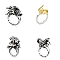 2017 New Fashion Poke Ring 4 Styles en alliage de métal Anneau de doigts Chrismas Gift Hot Sales avec Retail Box Emballage F855