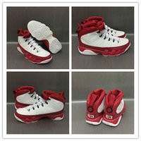 Wholesale Top Quality Leather Boots - 2017 Cheap Sale Retro 9 Basketball Shoes Men Retro 9s White Red Shoes Top quality Trainers Athletics boots Sport Sneakers