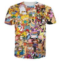 3d gracioso al por mayor-Nueva moda para hombre / mujer de dibujos animados Totally 90 s camiseta de verano estilo divertido Unisex 3D Imprimir Casual camiseta tops más tamaño AA276