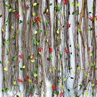 Wholesale Dried Stems - Artificial vine wire Dried Floral Branches,Pip Berry Stem Rattan Cane,DIY Christmas Garland Material, long 125cm