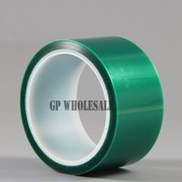 Wholesale Coated Pcb - Wholesale- 2016 1x 50mm*33 meters*0.06mm High Temperature PET Film Green Adhesive Shielding Tape for PCB Solder Plating Coating Mask #EC03