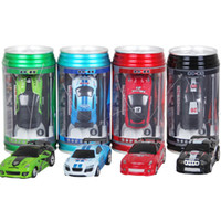 Wholesale Game Controller Car - Mini RC Racing Car 1:64 Coke Zip-top Pop-top Can 4CH Radio Remote Control Vehicle 9803 LED Light Colorful Toys for Kids Interesting games