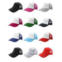 Wholesale Plain Mesh Caps - Wholesale- Summer Plain Trucker Mesh Hat Snapback Blank Baseball Cap Adjustable Size