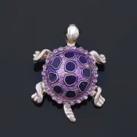 Wholesale Turtles Shells Wholesale - Wholesale- Vivid Tortoise Brooch With Shell Turtle Brooch Animal Brooch XD2311