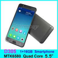 Wholesale Random Beauty - New Brand DOK D305 MTK6580 5.5inch Android Phone 1GB RAM 16GB ROM Dual SIM 3G Unlocked Smart Mobile Phones Beauty Camera 5MP