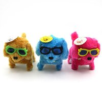 Wholesale Wholesale Battery Operated Dog Toy - Creative children's dolls, small gifts, pop glasses, back dogs, luminous toys, dogs, summer vendors, hot supplies
