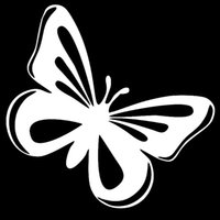 Wholesale Carved Doors - Beautiful Butterfly Black Hand-carved Insect Car Sticker for Truck Window Bumper Auto Door Laptop Car Cover Vinyl Decal car-styling Jdm