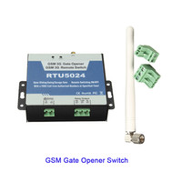 Wholesale Sms Gate Control - SMS GSM Relay Garage swing rolling shutter Gate Opener Phone remote control with max 200 Users