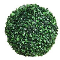 ingrosso grandi erbe-2pcs palle di erba di nozze piante artificiali decorativi grande palla rotonda erba appesa fabbrica hotel erba palla bouquet palla fiore