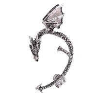 Wholesale Earrings Gothic Dragons - Gothic Women'S Dragon Shaped Alloy Ear Cuff Earrings Cool Party Jewelry stud Earrings Gifts