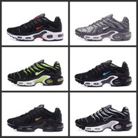 Wholesale Electric Cushion - 2017 New Arrival Fashion Air TN Cushion Running Shoes For Men Fashion Sport Shoes Electric Athletics Ultra Cheap Sneakers Shoes Size 7-11