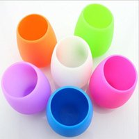 Wholesale Fashion Design Forms - New Design Fashion 2017 easy carry Unbreakable clear Rubber wine cup silicone wine cup wine glasses