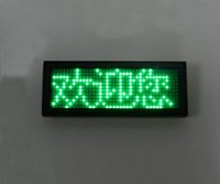 Free Driver Green LED Name Badge Scrolling Bildschirm Visitenkarte Tag Display Werbung Visitenkarte Tag Display Zeichen