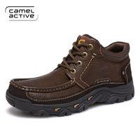 Wholesale Waterproof Trail Shoes Men - new arrival Men Trekking Shoes Breathable cowhide Hiking Shoes Men Outdoor Shoes Trail Hiking Boots