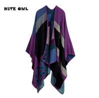 Wholesale Cashmere Ponchos Sale - 2017 New Women Winter Blanket Poncho Cape Women's Warm Scarves Cashmere Ponchos and Capes Top Sales Shawls RS16034