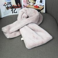Wholesale Rex Lace - Korean spring and autumn winter Rex rabbit fur collar scarf female Korean students collar scarf collar