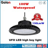 Wholesale Led Lamps Price China - China factory price 100-277VAC IP65 waterproof Meanwell driver 5 years warranty 130Lm W 100W LED bay lamp