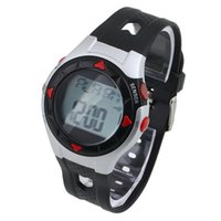 калория счетчики смотреть оптовых-Wholesale- 1PC Outdoor Cycling Monitor Wrist Watch Calorie Waterproof Pulse Heart Rate Counter Sport Exercise Drop Shipping