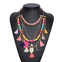 Wholesale Buy Tassels Wholesale - Hot Design National Women Fashion Tassel Necklace Jewelry yiwu buying agent top quality necklaces 6pcs lot (kk170133)