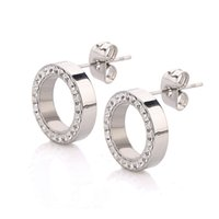 Wholesale Earings Studs Rings - Stainless Steel Earring Crystal Stud Earrings For Women Joyas Brincos Bijoux Jewelry Earings Fashion