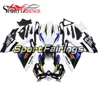 Carénages pour Suzuki GSXR600 750 K8 08 09 10 2008 2009 2010 ABS Plastic Injection Mécanique Carénage Carrosserie Cowling Viru White Blue
