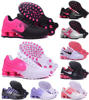 Wholesale Pink Dress Shoes For Men - woman shox deliver NZ R4 top designs for women basketball running dress sneakers sport lady crystal lace flat casual shoes best sale online