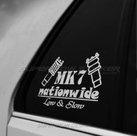 Wholesale Low Car Stickers - Low-lying modified HellaFlush stickers pneumatic golf 7CC rear window stickers fear of heights shock absorber car stickers