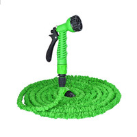 Stock américain Multi-color 100FT flexible Flexible Water Water Hose avec Spray Nozzle Head 3 Colors Livraison gratuite