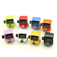 Wholesale numbers digits - Wholesale- NEW Digital Hand Held Tally Clicker Counter 4 Digit Number Clicker Golf Chrome -Y103