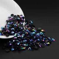 Wholesale Crystal Rhinestones Flatback Ss16 - Black Blue Jet AB Crystal Faceted Resin Rhinestones, SS12 SS16 SS20 SS30 Resin Flatback Rhinestones, All Size Resin Rhinestones