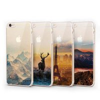 Wholesale Tower Mobile Cover - For Iphone 7 7plus 6s cell phone cases cover Soft TPU Mobile phone silicone case with Elizabeth Tower Big Ben Eiffel landscape Plating
