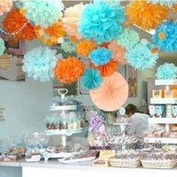 neujahrsblume großhandel-Großhandel-Hochzeit Dekorative Blumen Casamento Pompons Pompon Geburtstag 25 cm Party New Year Weihnachten Hängen Pompom Hochzeit Dekor H04