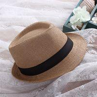 Wholesale Chapeau Femme - Fashion Unisex Sun Hat Men Bone Ladies Summer Straw Hat Beach UV Protection Cap Leisure Shipping Chapeau Panama Femme