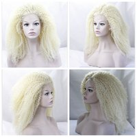 Wholesale 14 Length Full Lace Wigs - Fashion 26 inches Glueless Heat Resistant Fiber Synthetic Full Front Lace Wigs Hair Lace Front Wig Afro Kinky Curly #613