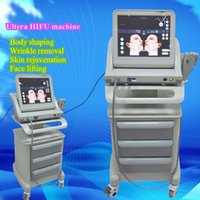 Wholesale Machine Trolley - 2017 newest high intensity focused ultrasound HIFU without trolley 7Mhz and 4Mhz Remove neck wrinkles face lift machine