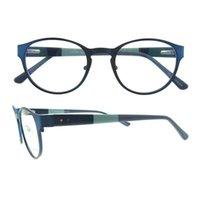 Wholesale Design Order Bag - mix order free shipping good quality Vintage multicolor Metal Frame unisex Italy Design round men glasses frame