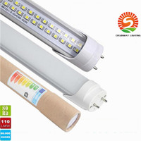 Wholesale Free Tax - USA stock + 4ft led tube 22W 25W 28W free shipping T8 4 foot 1.2m Led Lights Tubes AC 110-240V No Tax Fee