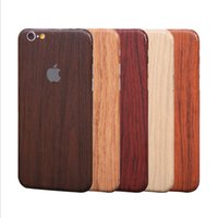 pegatinas de grano de madera al por mayor-Para iphone7 7plus iphone6 ​​6splus cuerpo completo CellPhone Sticker Vintage Imitate grano de madera Skin Cover para iphone5S Samsung S7 edge S6 J7 J5