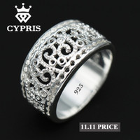 Wholesale 925 Sterling Ring Price - SALE Best Selling 2017 Hot Wholesale Price silver Ring Flower plant sterling Hollow gift jewelery unique style unisex women 925