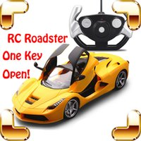 Wholesale Electric Motor Door - New Year Gift One Key Open Doors 1 14 RC Remote Control Car Model Roadster Electric Toys Vehicle Racing Shock Resistant Machine