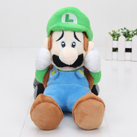 22 centímetros Super Mario Luigi Soft Plush Doll Mansion 2 Sanei Scared Plushie Brinquedos Boy Birthday Kids Birthday Gift