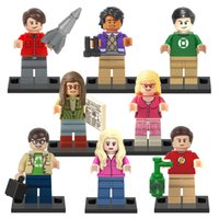 Wholesale Theory Wholesale - 8pcs set The Big Bang Theory Building Blocks Sheldon Penny Figures Block Toys For Children Kids Christmas Gifts Bricks Toy