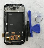 Wholesale S3 Display Screens - Free Shipping Display for Samsung Galaxy S3 III i9300 LCD with Touhch screen Digitizer With Frame Display Assembly