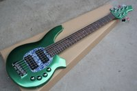 Wholesale Green Electric Bass Guitar - Free shipping Brand new 6 strings Musicman electric bass guitar with 24 fret in green color