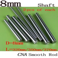 Wholesale 8mm Linear Guide - Wholesale- 6pcs set All New 3D Printer rod 8mm linear shaft L320 350 370mm Linear rail round shaft 8mm guide rail for 2pcs each length